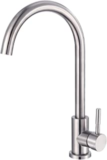 360 Degree Stainless Steel Swivel Good Valued Kitchen Sink Faucet Modern Hot& Cold Mixer Handle Lever Brushed Nickel Kitchen Sink Faucet Brushed Nickel Bar Faucets