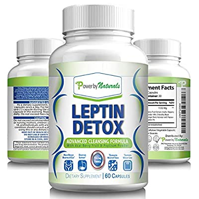 Power By Naturals – Leptin Detox – Advance Colon Cleanser - Weight Loss Supplement for Women and Men, Flush Excess Waste and Toxin - Gas, Constipation, Bloating Relief, Cleanse – Vegan – 60 Diet Pills from Power By Naturals