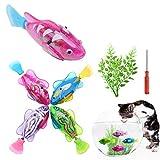 Hcpet 5 Piezas Juguetes para Gatos, Juguete eléctrico de Movimiento Artificial, Juguete para Gatos (B)