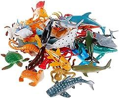 Sea Animal Figures Animal Toys 38PCS - Nabance Mini Sea Animal Toys Set Realistic Animal Sea Life Figures Toy Educational...