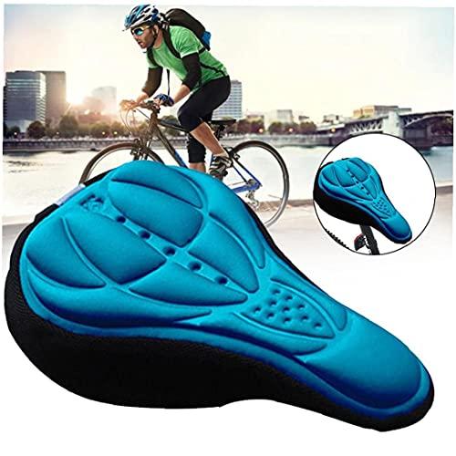 Sillín de Bicicleta de Espuma Suave cómodo Montar de la Bici MTB de una Silla con Amortiguador de la Silla de Montar de Ciclo de Accesorios Azul