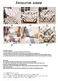 HYSENM 1/2/3/4 Sitzer Sofabezug Sofaüberwurf Stretch weich elastisch farbecht Blumen-Muster, Beige 1 Sitzer 85-140cm - 8