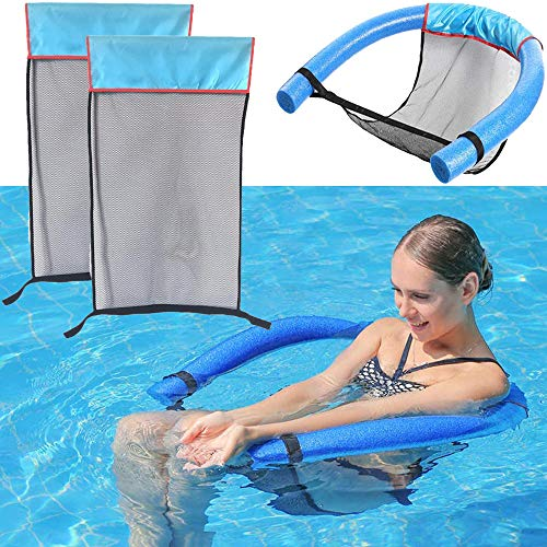 The Dreidel Company Pool Noodle Floating Mesh Chair for Floating Pool Noodle, Pool Noodle Not Included, Only Swimming Net Lounge Chair Seat, Great for Water Relaxation (Single)