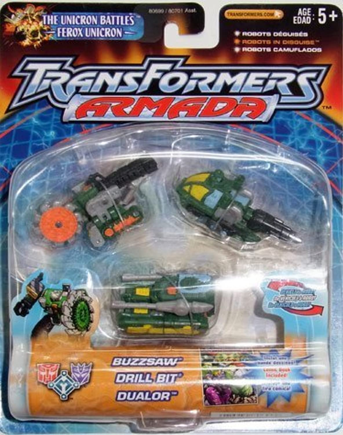 mejor marca Transfirners Armada Armada Armada Buzzsaw, Drill Bit, Dualor, Firebot, Makeshift and Prowl by Hasbro  para mayoristas