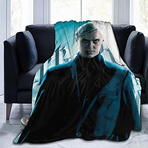 Draco_Malfoy Flannel Blanket Light and Comfortable Suitable for The Four Seasons Warm Blanket of Bedroom and Living Room Sofa 60'x50'in