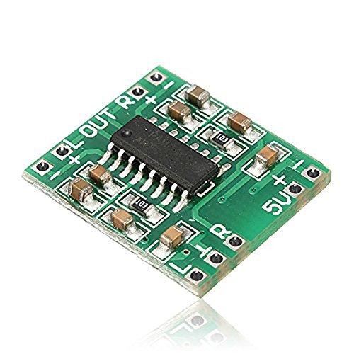 daorier PAM8403Super Clase D Amplificador Digital Mini Audio Amplifier Board Módulo USB DC 5V LCD