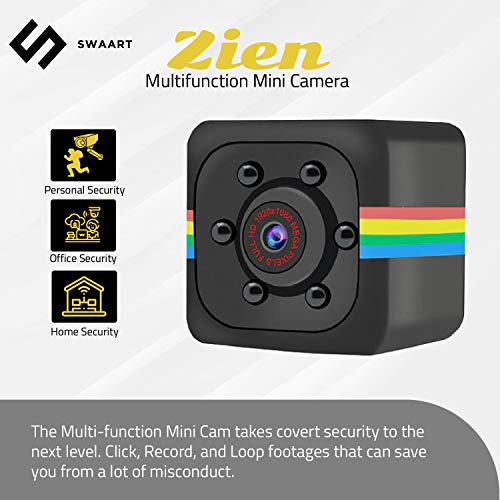 Mini Security Camera- Tiny Motion Sensor Camera- Night Vision- Nanny Cam Hidden Camera- Indoor & Outdoor Camera- Smart Home Devices- Wireless Camera for Home and Office Security- HD Camera