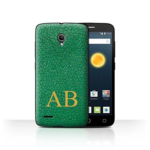 Stuff4Phone case/cover/Skin/ALCPOP25/Custom effetto pelle Collection Emerald Green Monogram