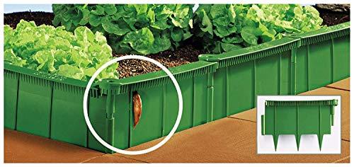 UPP Schneckenzaun & Beeteinfassung | Effektiver Schneckenschutz für Ihren Garten - ganz ohne Chemie | Einfache Installation Aber große Wirkung [1 Meter, Grün]