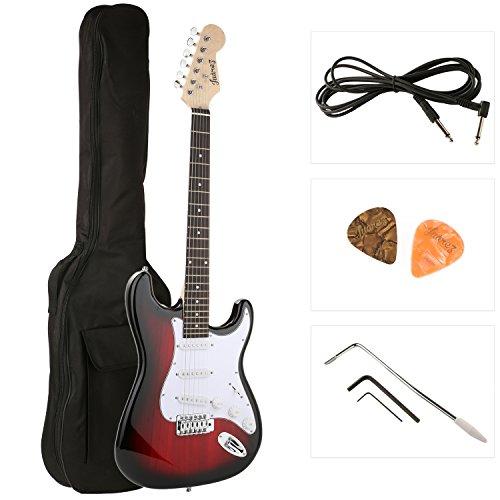 Juârez ST38 Electric Guitar Kit/Set, Right Handed, Red Sunburst RDS, With Case/Bag & Picks