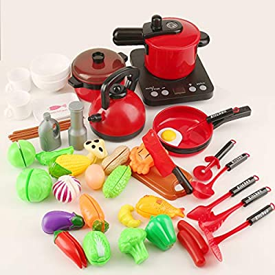 Amazon - Save 60%: Kids Kitchen Play Cooking Set, Induction Cooker,Cookware Pots a…