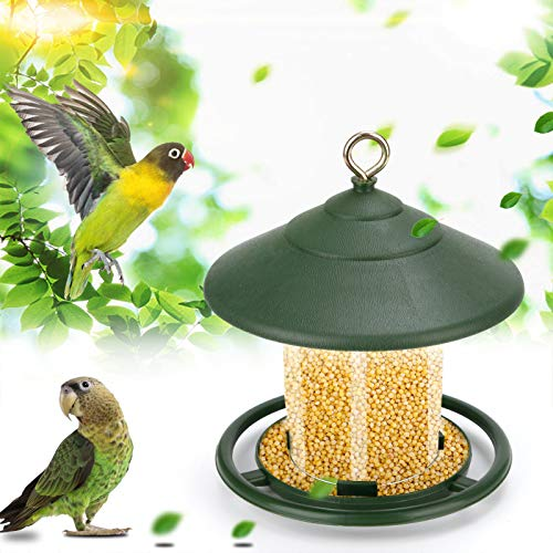 CRZJ Alimentador de Aves Silvestres Colgando, alimentadores de pájaros de Panorama para Exteriores, alimentador de Semillas de plástico para jardín al Aire Libre Decoración de la Yarda
