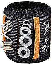 Marwotec extra sterke magnetische armband met 15 krachtige magneten, verstelbare klittenband-magneetarmband voor het vasth...