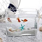 N\A AY Tanque de Pescado de Vidrio en Forma de S, Moda de Escritorio Goldfish Bowl, Mini Aquarium, Jarrón de Vidrio hidropónico (Color : 7)