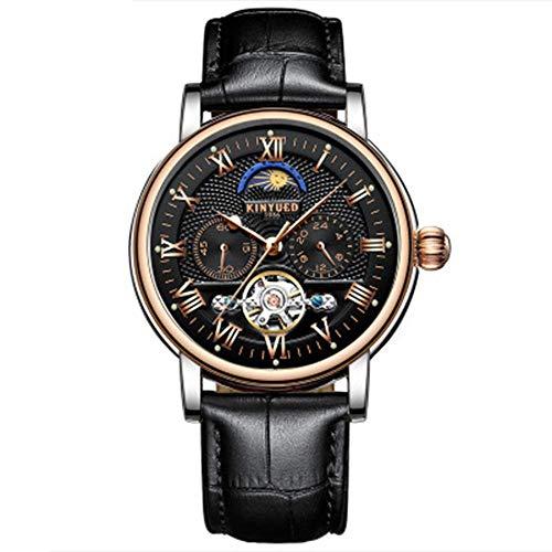 AYDQC Relojes, Relojes for Hombre del Acero Inoxidable de la Manera del Reloj de Pulsera Impermeable analógico Reloj de Cuarzo fengong (Color : C)