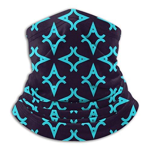 LREFON Pañuelo de Cuello con Textura geométrica Azul Claro, pasamontañas para Hombres, Mujeres, protección contra el Polvo y el Viento UV