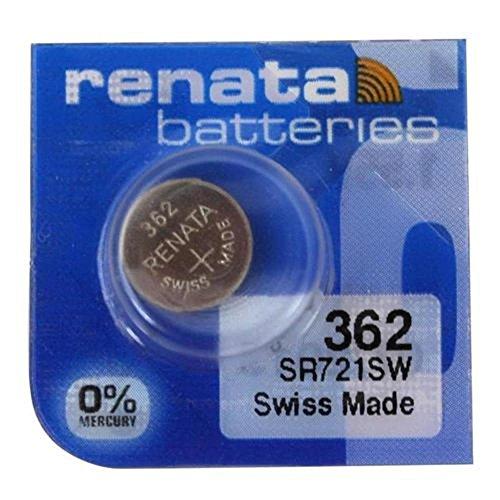 2 x Renata Uhrenbatterie - Swiss made Cells Silberoxid 0{e2f5f076958670ffe9a560b804a78fe58c19c1a9bd6be21bda85902e72ef7b57} Quecksilber Knopfzellen 1.55V Renata Batterien des langen Lebens 362 ( SR721SW )