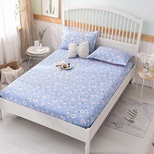 HPPSLT Protector de colchón/Cubre colchón Acolchado, Ajustable y antiácaros. Sábana de algodón Antideslizante de una Sola pieza-11_1.8 * 2.2m