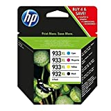 HP Original Tinte Nr. 932XL Black und Nr. 933XL Color Pack 4 Stück für HP Officejet 6100/6600/ 6700