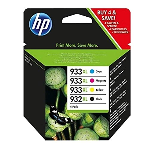HP Tinta Original Nº 932XL Black Y Nº 933XL Color Pack 4 Unidades para HP OFFICEJET 6100/6600/ 6700