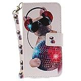 zl one Funda ASUS Zenfone 3 MAX ZC520TL Case,PU Cuero Cartera para Cover + 1 Cristal Tempered Glass 9H(5)