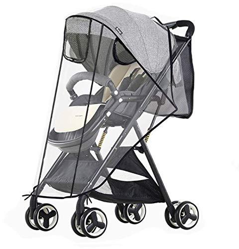 Burbuja de Lluvia Protectore Cubierta contra Lluvia y Viento Impermeable para Silla de Paseo de Bebé y Carrito (style-02)