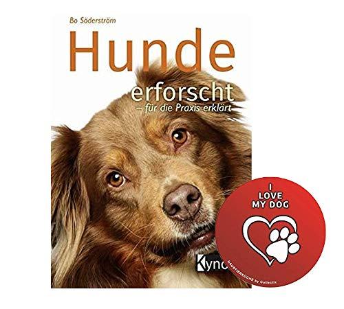 Honden onderzoek - voor de praktijk uitgelegd Gebonden boek + I Love My Dog Sticker by Collectix
