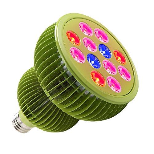 TaoTronics LED Grow Lights Bulb, Grow Lights for Indoor Plants,Plant Lights,Grow Lamp for Hydroponics,Organic Soil,Applicable to Grow Banana,Lemon etc.(36W,3 Bands,E26 Socket) (Renewed)
