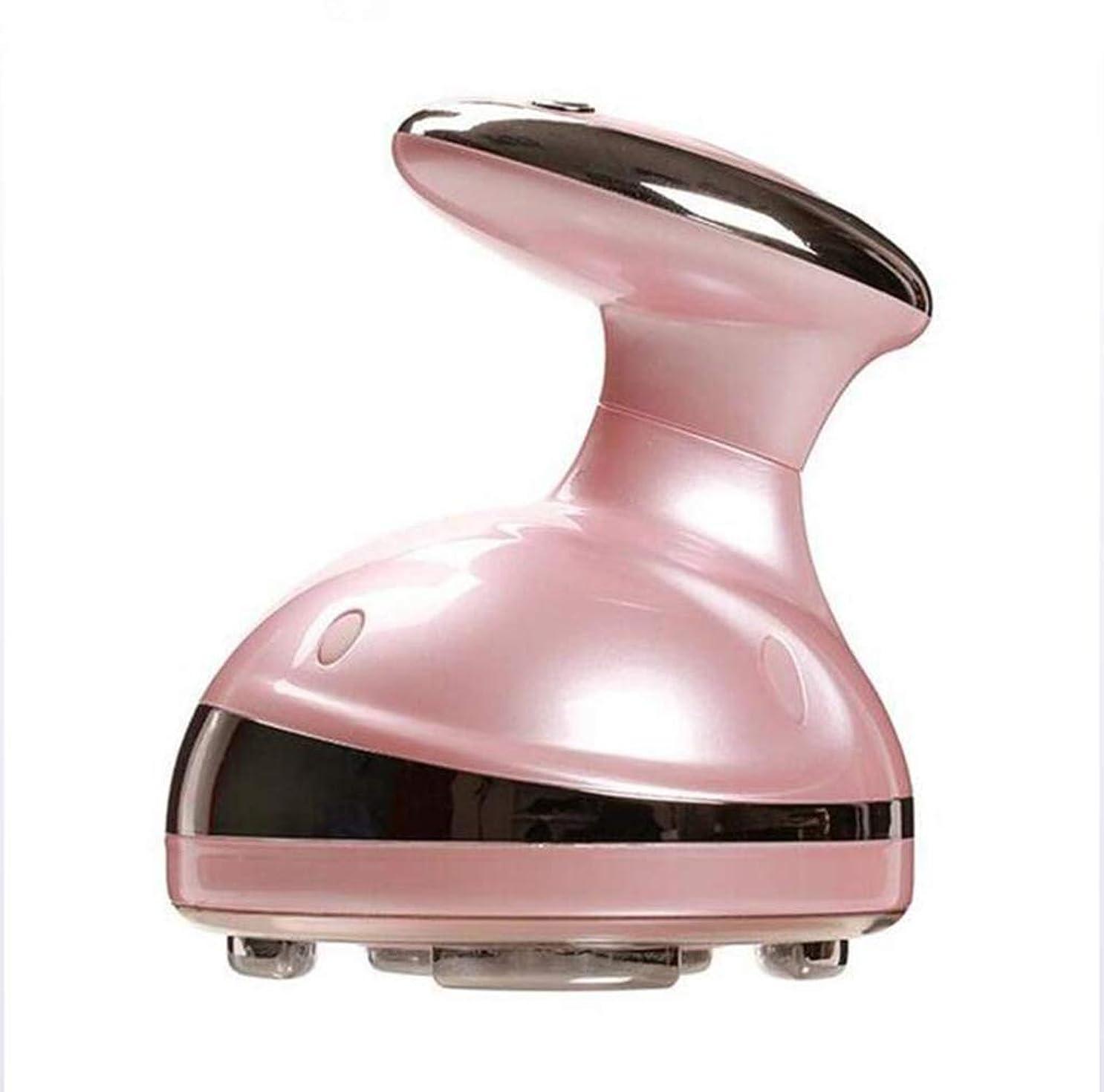 損失契約する方向ポータブルスリミングマッサージャー、除去脂肪高周波振動体彫刻肌美容機器、ピンク