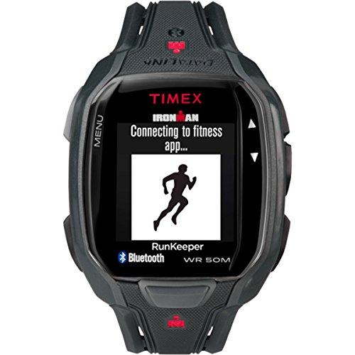 Timex Herren Ironman Run X50 Plus HRM Sportuhren, schwarz, STANDARD