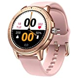 SANAG Smart Watch for Android Phones and iPhone,Fitness Tracker with Heart Rate Monitor and Sleep Monitor,IP67 Waterproof Activity Tracker with Pedometer, Smartwatch for Women (Pink)