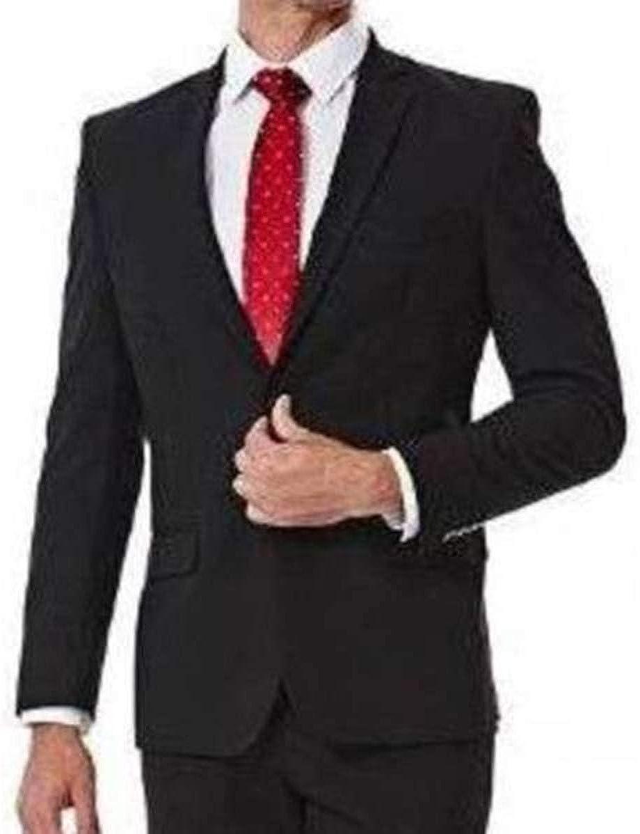Haggar Mens 1926 Originals Polyester Blend Slim Stretch Suit Jacket, Black (36 Regular)