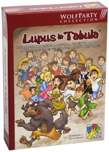 dV Giochi Lupus in Tabula-Gioco di società Interpretativo sui Lupi Mannari-Edizione Italiana, Colore Rosso, DVG9200