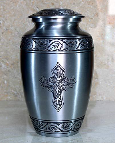 eSplanade Cremation urn Memorial Container Jar Pot | Cremation Urns | Full Size Standard Urns | Metal Urns