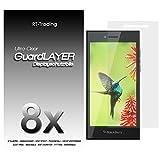 3x BlackBerry Leap - Bildschirm Schutzfolie Klar Folie Schutz Bildschirm Screen Protector Bildschirmfolie - RT-Trading