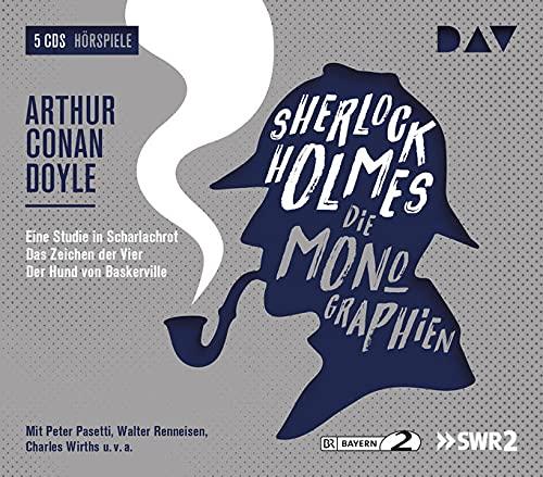 Sherlock Holmes 1 – Die Monographien: Hörspiele mit Peter Pasetti, Walter Renneisen, Charles Wirths u.v.a. (5 CDs) (Sherlock Holmes – die Hörspielklassiker)
