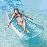 Xyl Adulto Inflable Inflable de Estar flotando Bote de remos a la Deriva el Agua Que espese la Cama Flotante Placa Flotante Flotante Fila plegada de reclinación de Respaldo reclinable de natación