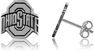 Ohio State University Post Earrings, Buckeyes O State Logo - Sterling Silver Jewelry by Dayna Designs. Small for Women/Girls - Final Sale