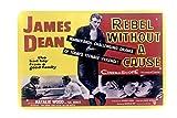 DiiliHiiri Cartel de Chapa Vintage Decoración, Letrero A4 Estilo Antiguo de metálico Retro (James Dean)