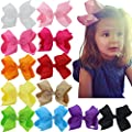 4.5 Inch 6 Inch 8 Inch Hair Bows Grosgrain Ribbon Boutique Hair Bow Clips For Girls Teens Toddlers Kids