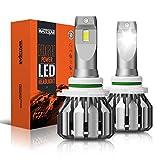Wattstar 9006 Kit De Conversión De Bombillas De Luces Delanteras Led, Faro De 64w Super Bright Hi/Lo Beam Con Ventilador, CSP Chips Ip68 9600Lm 6500k Blanco Paquete De 2