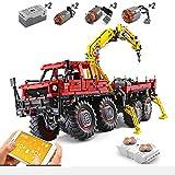 XJJY Técnica Articulated 8x8 Offroad Truck Funcion Set, Technic RC Registro de Camiones Conjunto de construcción con Motores, Bloques de 3060 Piezas compatibles con la técnica Lego