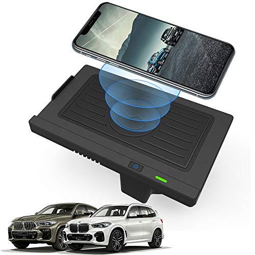 Braveking1 Cargador Inalámbrico Coche 10W Qi Carga Rápida Teléfono Cargador Auto para BMW X5 X6 2018 2017 2016 2015 2014 Consola Central Accesorios Panel para iPhone 11 XS XR X Samsung S20 S10 S9 S8