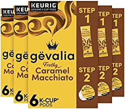 Gevalia 2-Step Caramel Macchiato K-Cup Espresso Pods and Froth Packets (36 Pods and Froth Packets (6 Boxes of 6))