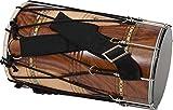 JAS Concert Dhol dritto a forma di barile, legno di rosa naturale