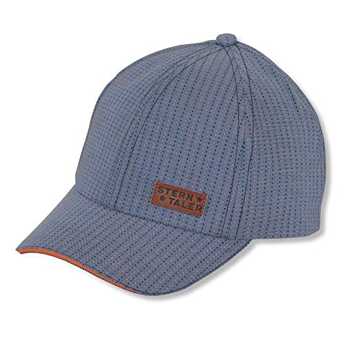 Sterntaler Baseball-Cap für Jungen mit Größenregulierung und dezenten Streifen, Alter: 2-4 Jahre, Größe: 53, Blau