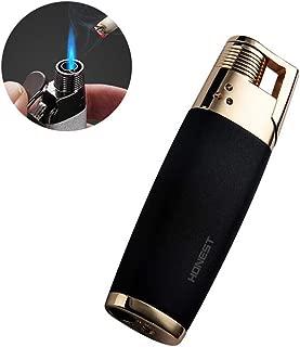 Single Jet Torch Cigar Cigarette Lighter Adjustable Flame Refillable Butane Gas Lighter Outdoors Camping Kitchen