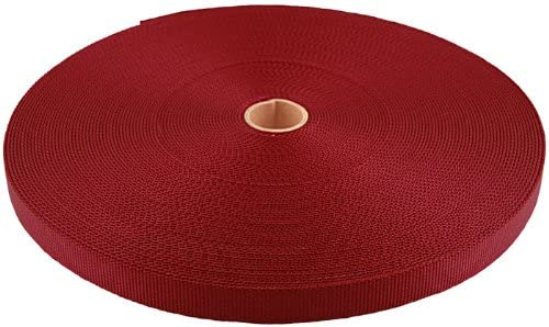 3 8 Inch Inventory cleanup selling sale Red Berry Heavy Webbing Yards Plus Ranking TOP10 350 Closeout Nylon