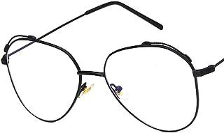 Unisex Glasses Frame Fashion Gold Black Triangle Full Frame Decoration Prescription Glasses