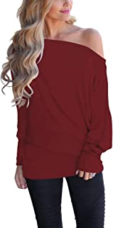 Best off the shoulder oversized shirts Reviews